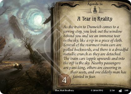 Agenda 1 – A Tear in Reality