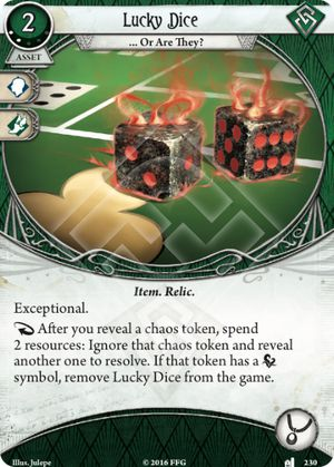 Lucky Dice - Undimensioned and Unseen - Arkham Horror: The Card Game