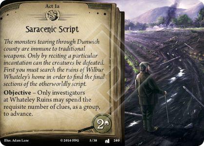 Act 1 – Saracenic Script