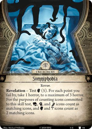 Somniphobia The Dream Eaters Arkham Horror The Card Game Arkham Horror The Card Game Card Game Db