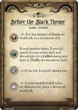 Before the Black Throne
