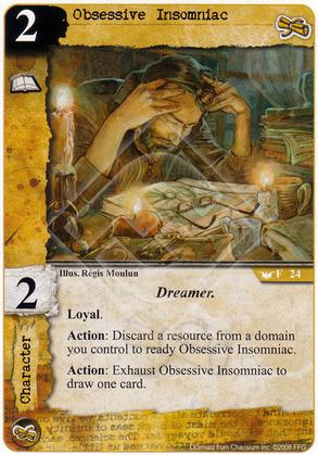 Obsessive Insomniac - In Memory of Day - Call of Cthulhu LCG