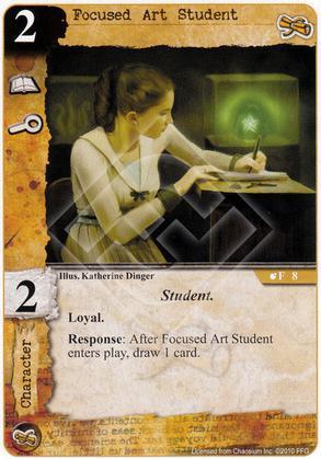 Focused Art Student