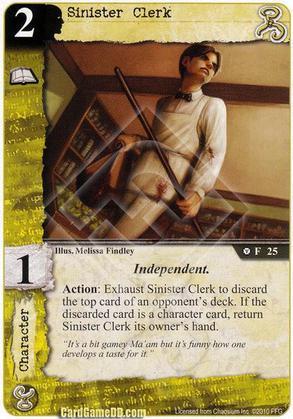 Sinister Clerk