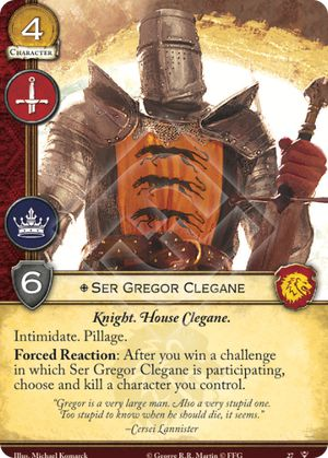 Ser Gregor Clegane