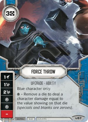 Force Throw Awakenings Star Wars Destiny Star Wars