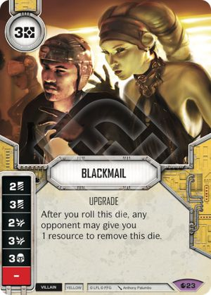 Blackmail Spirit Of Rebellion Star Wars Destiny