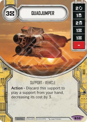 Quadjumper Spirit Of Rebellion Star Wars Destiny
