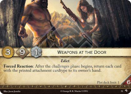 Weapons at the Door