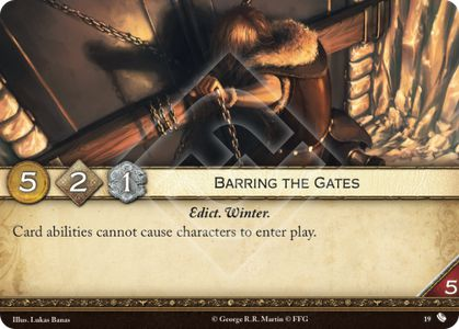 Barring the Gates