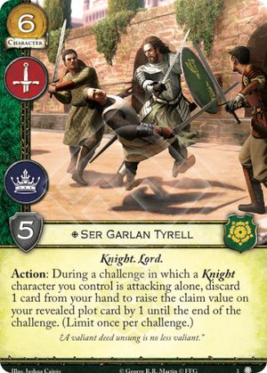 Ser Garlan Tyrell